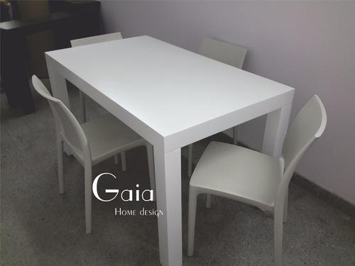 mesa asia laqueada comedor moderna madera 140 x 80 cm