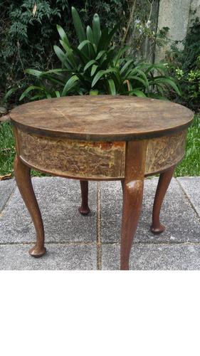 mesa auxiliar circular antigua