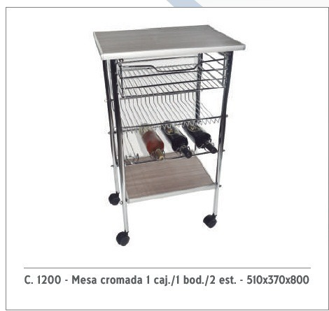 Mesa Auxiliar Cocina - $ 3.999,00 en Mercado Libre