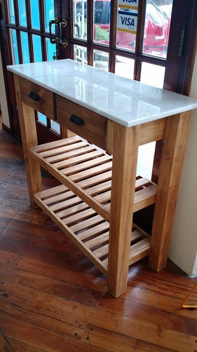 mesa auxiliar de arrime tapa de marmol de carrara miagala
