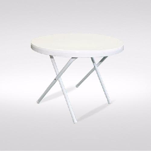 mesa auxiliar de caño con tapa plástica de 60cm