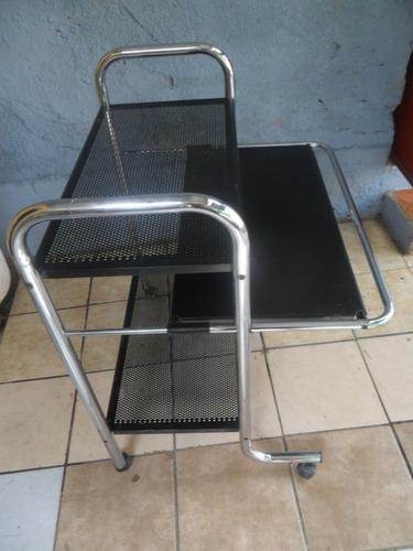 mesa auxiliar  escritorio oficina metalica !!!