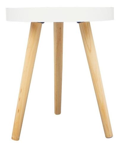 mesa auxiliar lateral fun minimalista escandinava env gratis