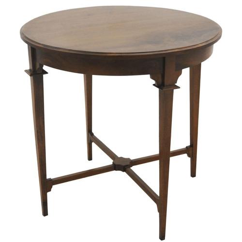 mesa auxiliar lateral redonda madeira demolição est rustico
