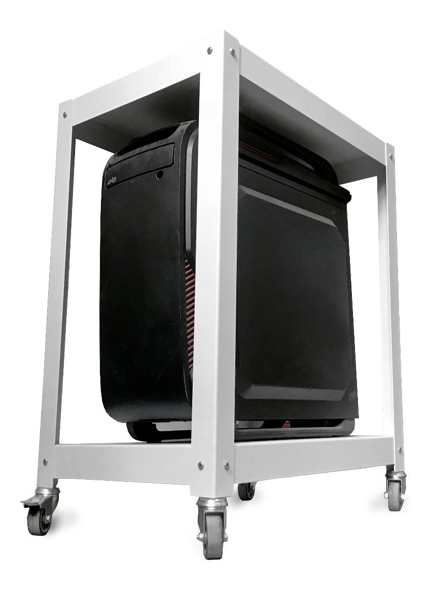 Mesa Auxiliar Para Cpu Impresora De Oficina Metálica Muett