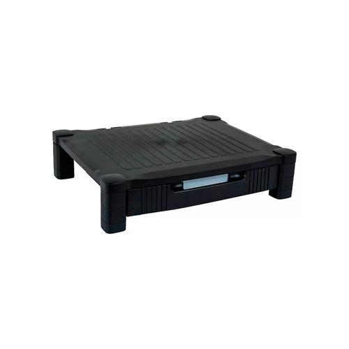 mesa auxiliar para portátil con cajón, negra