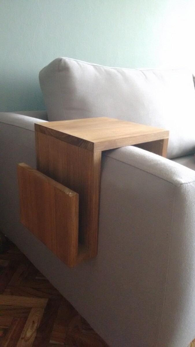 Mesa auxiliar para posabrazos sof en madera - Mesa auxiliar para sofa ...