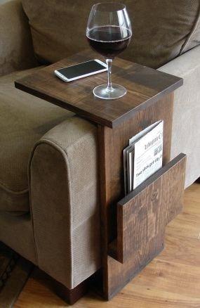 mesa auxiliar para sofa - en madera