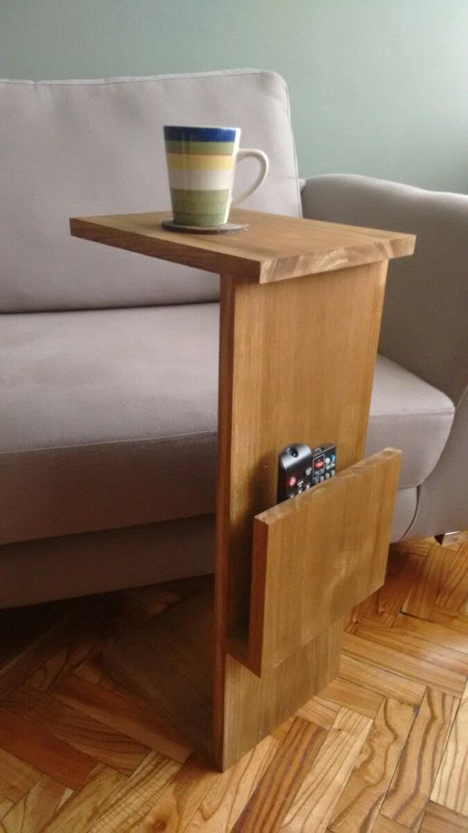 mesa auxiliar para sofa en madera en