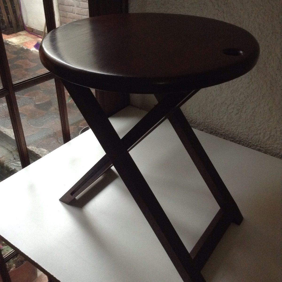 Mesa auxiliar plegable de madera s lida de banak konetl - Banak muebles auxiliares ...
