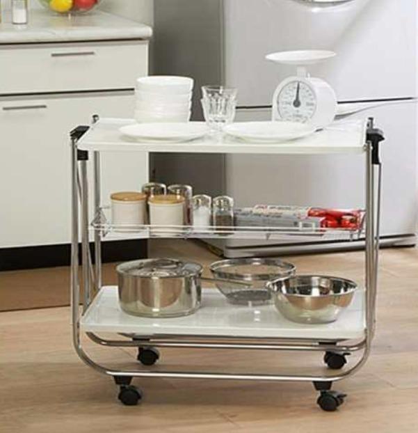 Cocina Ruedas4 Auxiliar Con Mesa 999 Plegable Para 00Colucci 5ARj34L