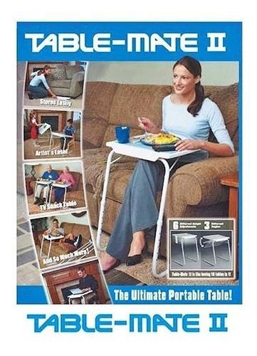 mesa auxiliar portatil table mate 2 como en tv plegable