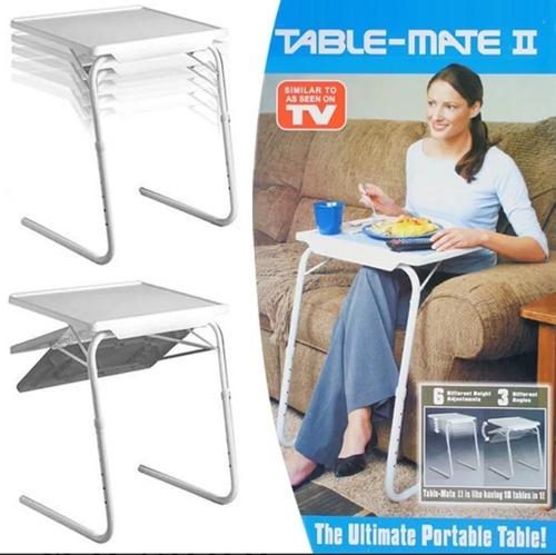mesa auxiliar portatil table mate 2 plegable nueva