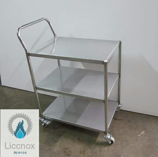 Mesa Auxiliar Transportable Para Cocina En Acero Inoxidable - S/ 950 ...