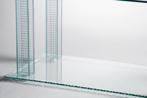 mesa baja ratona de vidrio! 90 x 50 x 55cm. diseño moderno.