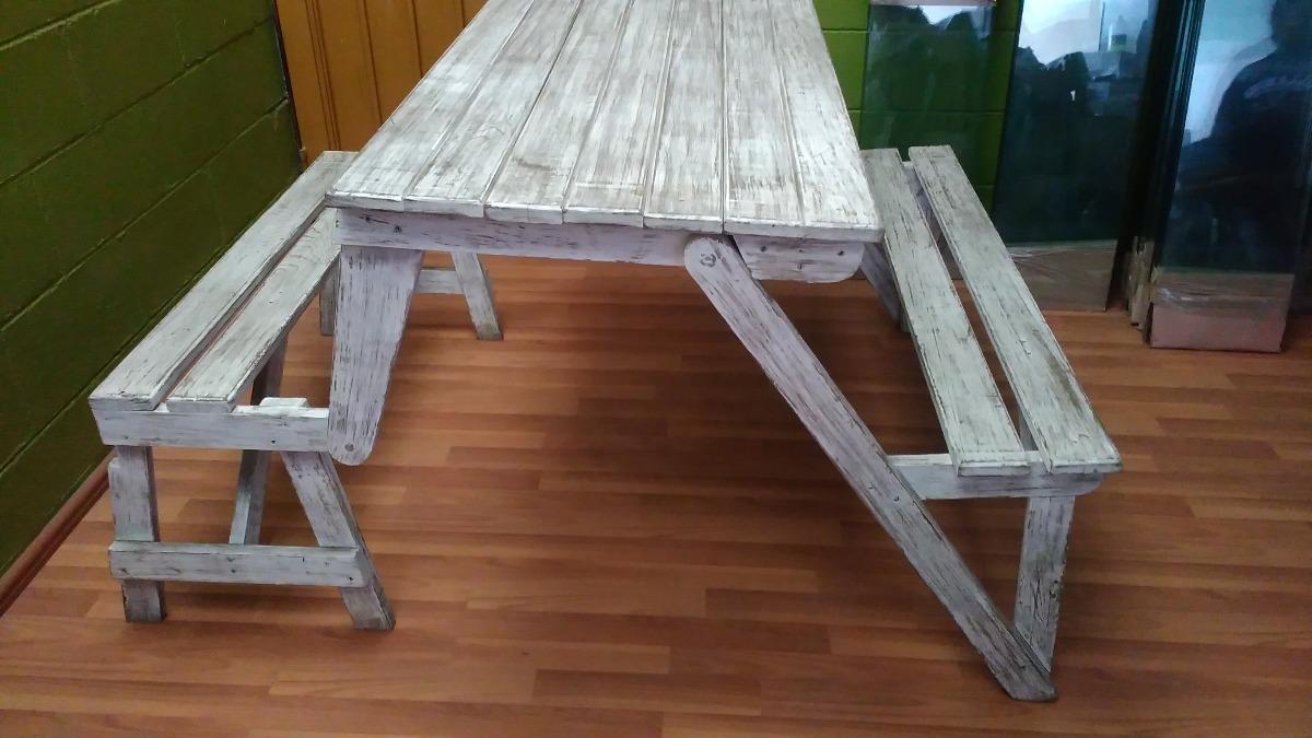 mesa banca de madera para terraza o jard n 2 en