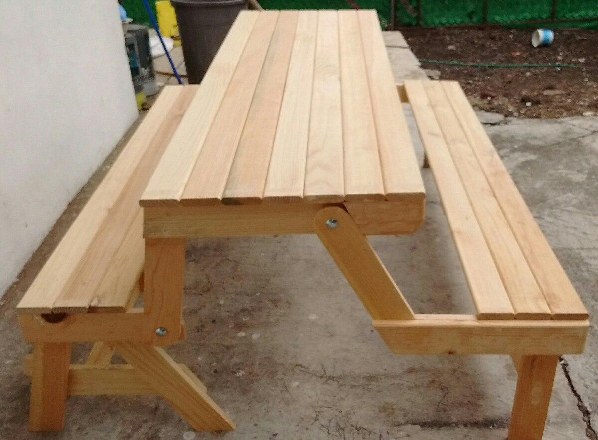 Mesa banca para 10 personas plegable picnic jardin fiesta for Mesa plegable 8 personas
