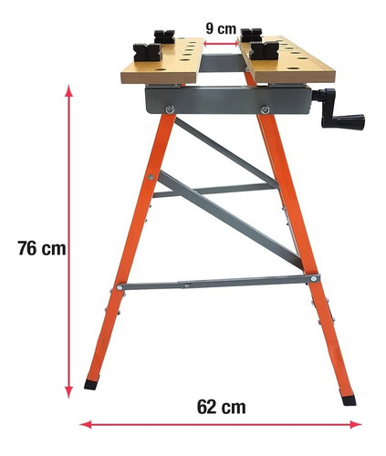 mesa bancada de trabalho multifuncional dobrável if-bf