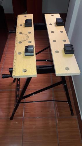 mesa banco de trabajo plegable portatil