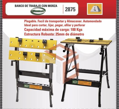 mesa banco de trabajo plegable prensa porta herramienta 100k