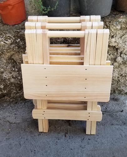 mesa banco plegable de madera (3 piezas) resistentes!
