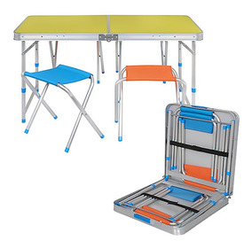 De Mesa Plegable Camping Bancos 4 Incluye D2IEH9