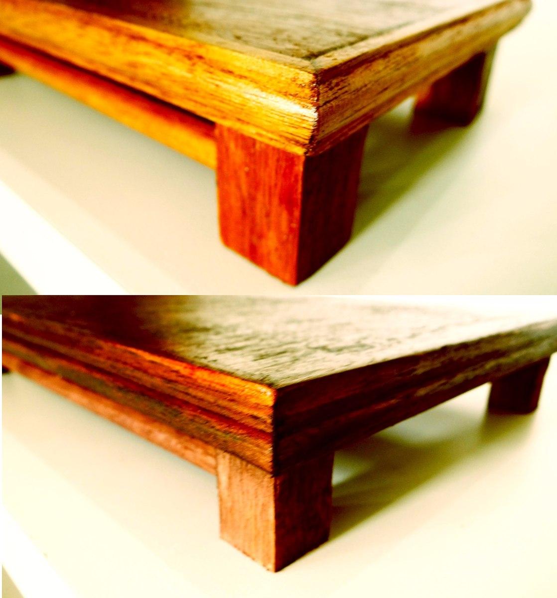 Mesa bandeja bonsai artesanal madeira linda r 70 00 em - Mesas para bonsai ...