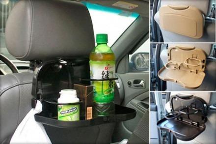 mesa bandeja plegable asiento organizador autos camionetas