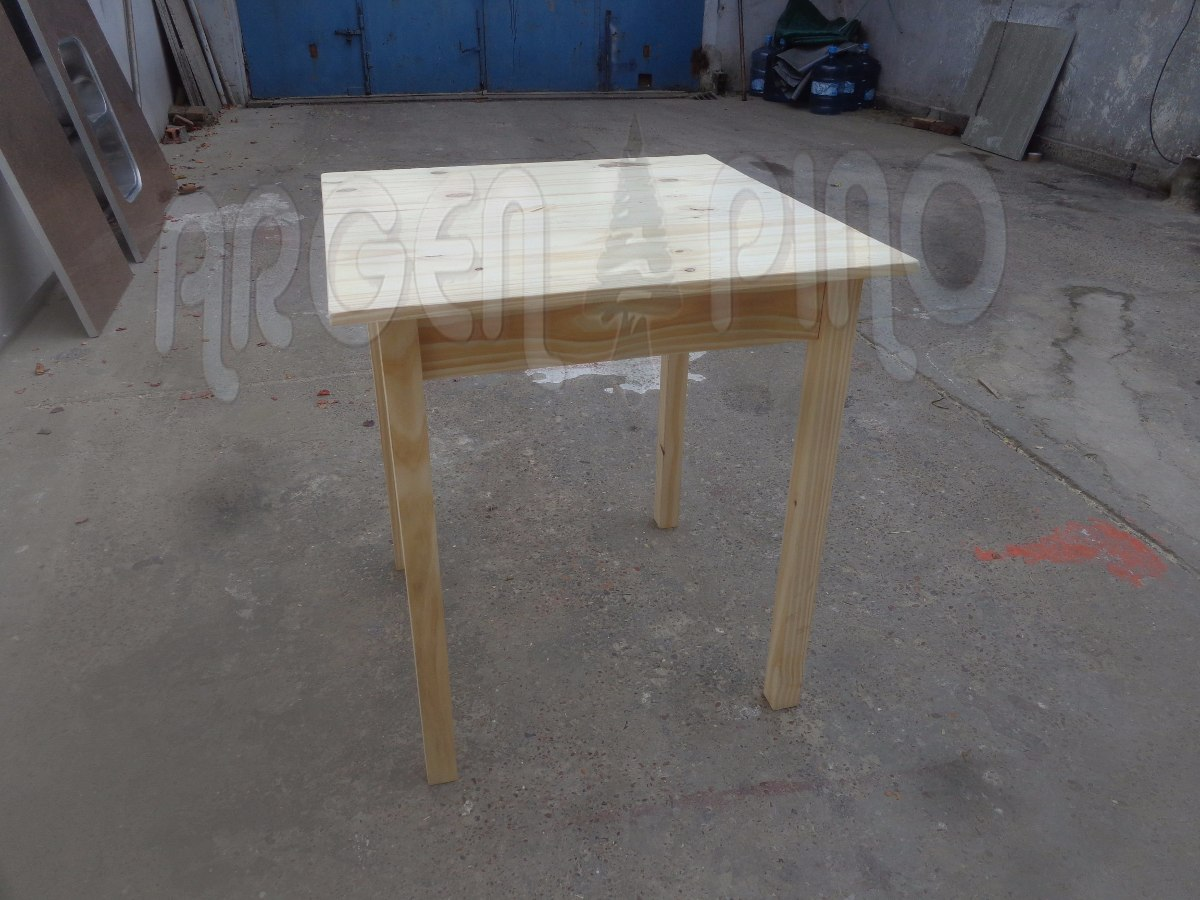 Mesa Bar 60 X 60 Fabrica Argen Pino Madera Maciza Oferta 399  # Muebles De Pino Coghlan