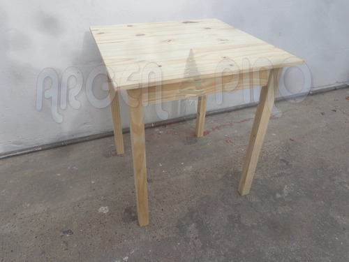 mesa bar 70 x 70 fabrica argen pino madera maciza oferta