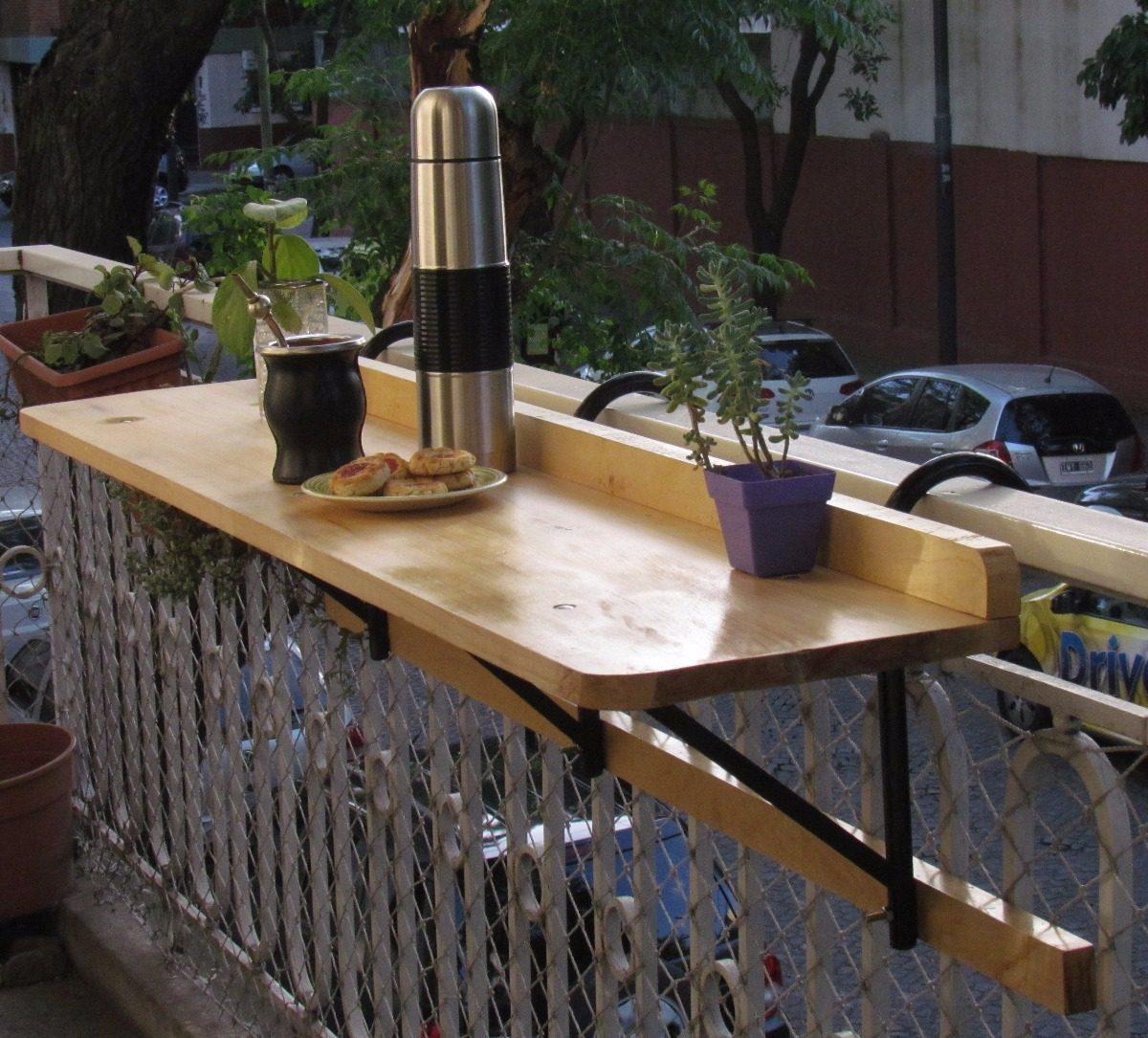 Para Jardin Bar Madera Barra Colgante Mesa Balcón O Terraza