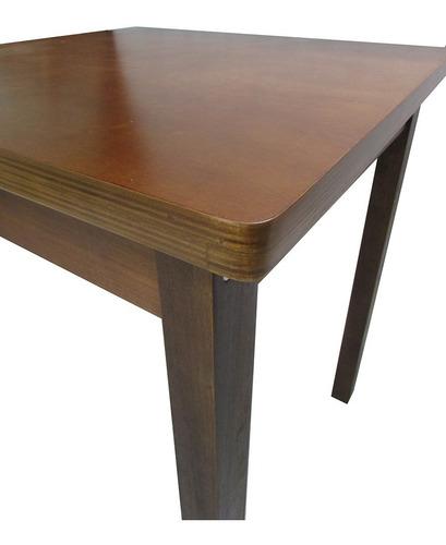 mesa bar e restaurante madeira. tampo naval 70x70 cm