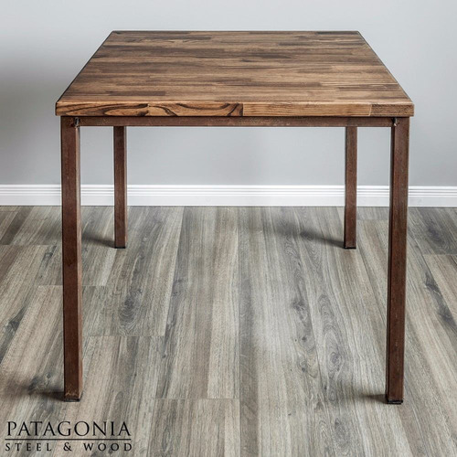 mesa bar restaurante resto industrial hierro madera oxido