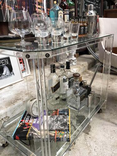mesa bar retro vintage de acrílico. excelente estado