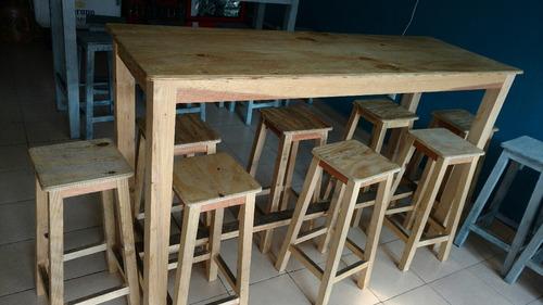 mesa / barra de madera maciza para restaurante,