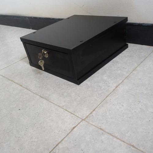 mesa base soporte para monitor con gaveta y cerradura