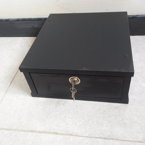 Mesa base soporte para monitor con gaveta y cerradura for Soporte monitor mesa