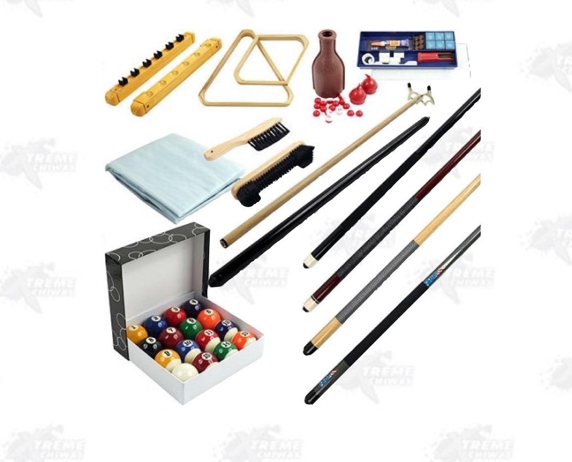 Mesa billar 32 piezas kit accesorios billar xtreme c for Accesorios de mesa de billar