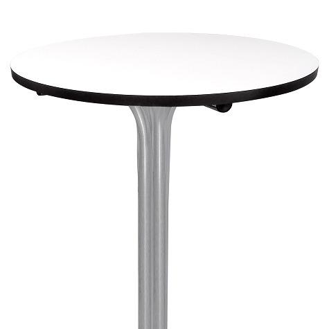 mesa bistrô alta prata tampo 60cm redondo - frete grátis
