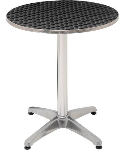 mesa bistrô redonda em alumínio 60 cm de diâmetro mor 009020