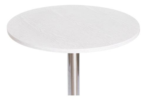 mesa bistrô regulável giratória 60cm branca