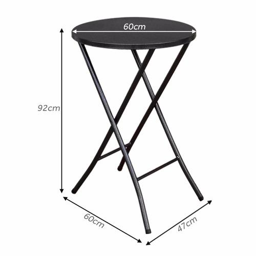 mesa bistro alta aço c/ tampo bar cozinha 92 x 60cm dobrável