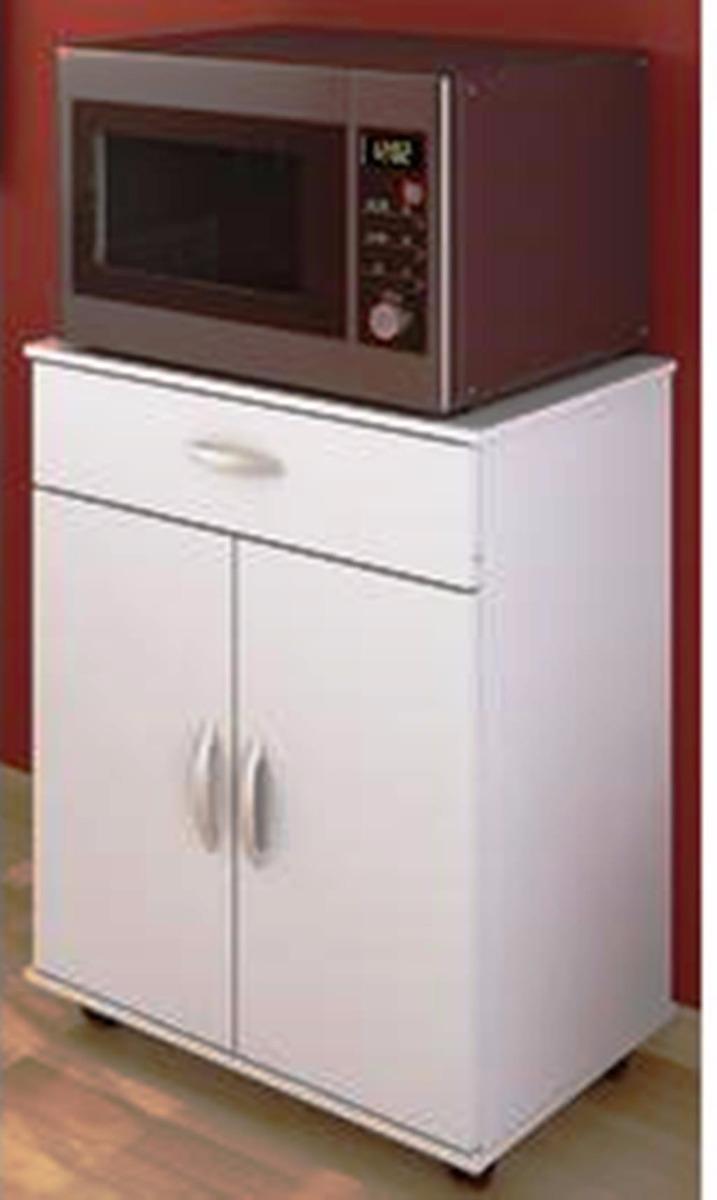 cupón doble últimos diseños diversificados 100% de alta calidad Mesa Blanca Para Horno Microondas Reproex 76x38x60cm