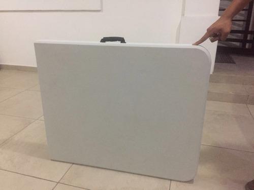 mesa blanca plegable de 180cm