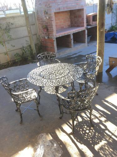 Mesa Boston 4 Aluminium Confort Juego De Jardin Aluminio