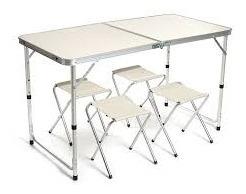 mesa cadeiras camping