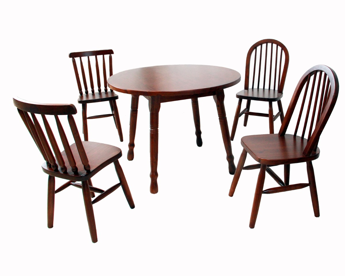 Conjunto Mesa E 4 Cadeiras Em Madeira Jantar Casa Sala R$ 1.599  #311510 1200x960