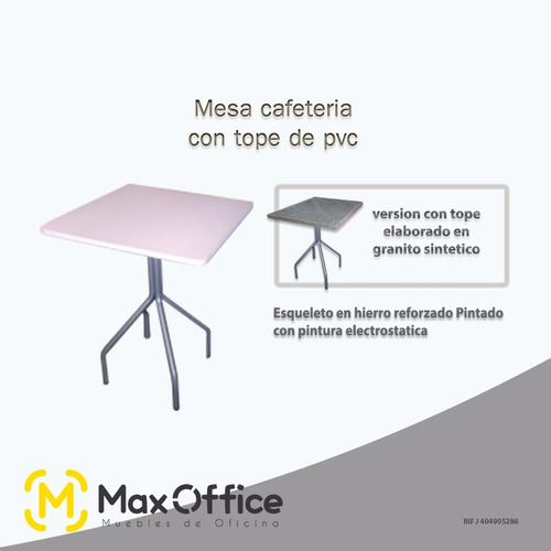 Mesa cafeteria tope polvo de granito pulido 60x60cm bs for Informacion sobre el granito