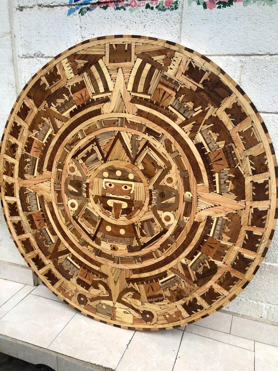 Calendario Azteca.Mesa Calendario Azteca Artesanal 80 Cm