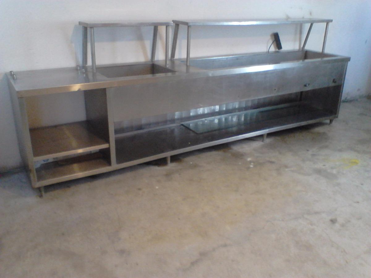 Mesa caliente cocina industrial 15 en mercado for Estructura de una cocina industrial